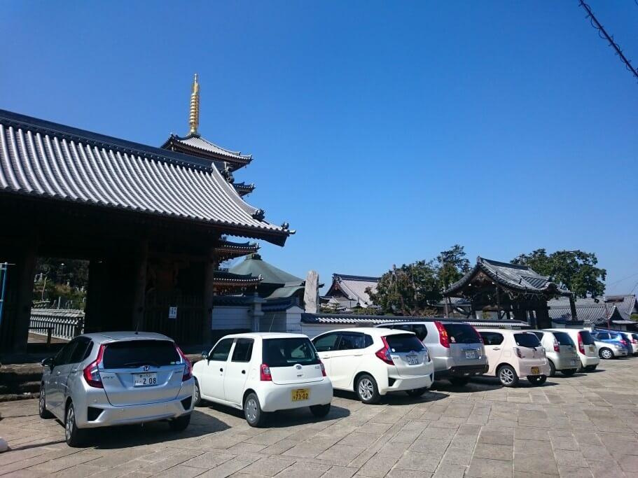 竜雲 法然寺門前駐車場