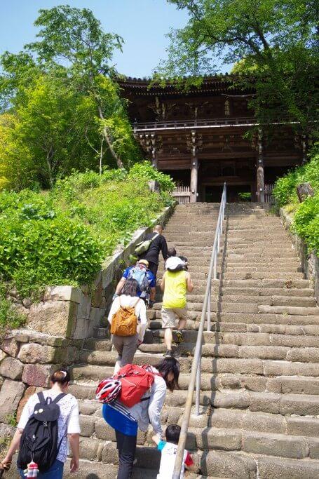 クラウズサイクリング 法然寺階段
