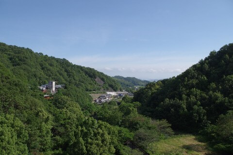 大窪寺への自転車旅 前山ダムからの景色