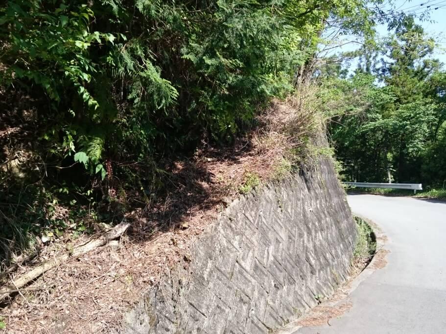 大瀧寺への遍路道 坂道
