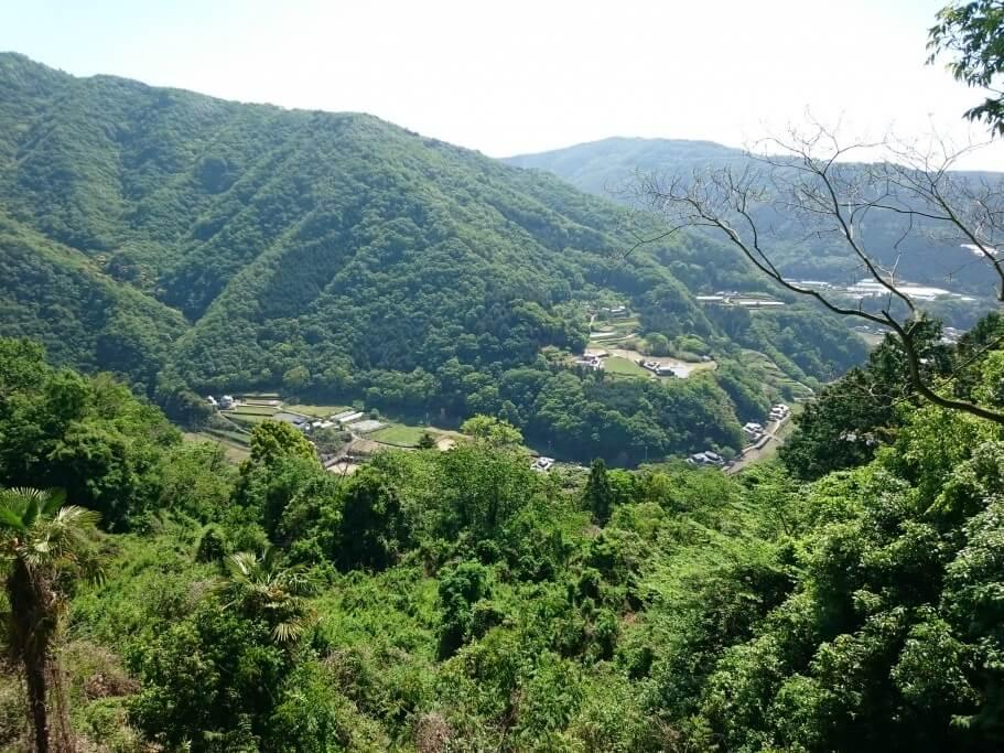大瀧寺遍路道 集落風景