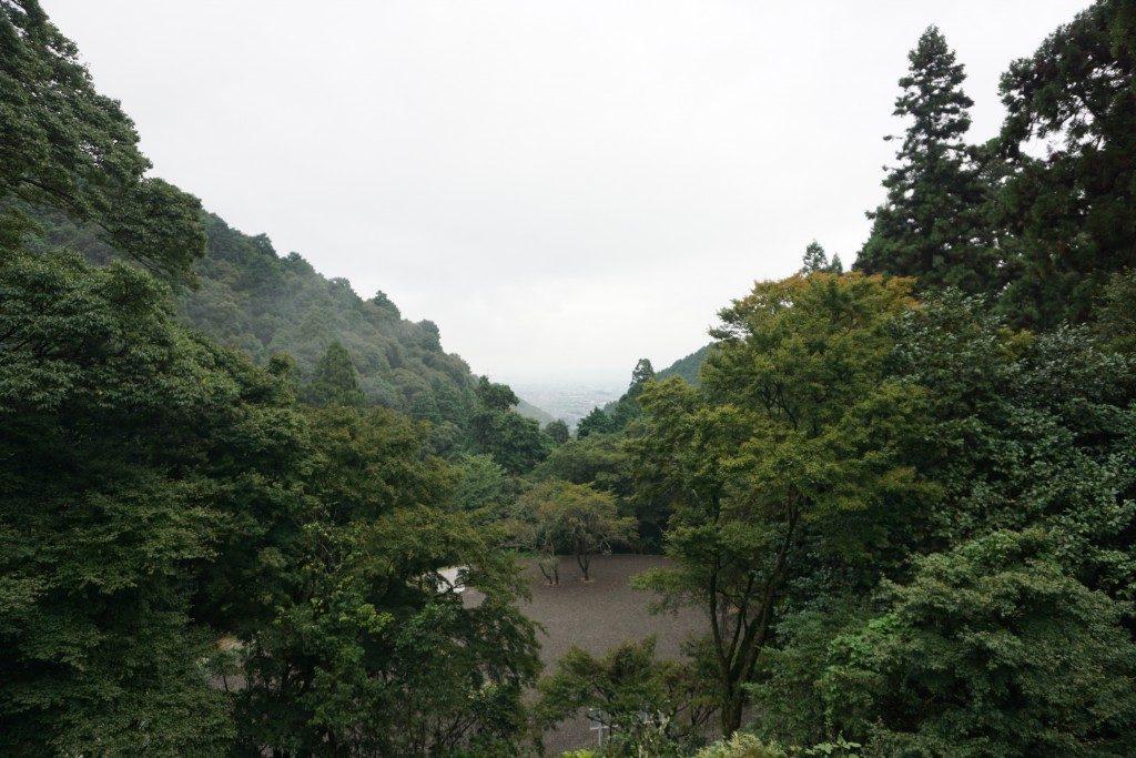 西山興隆寺 扇望景 丹原町平野