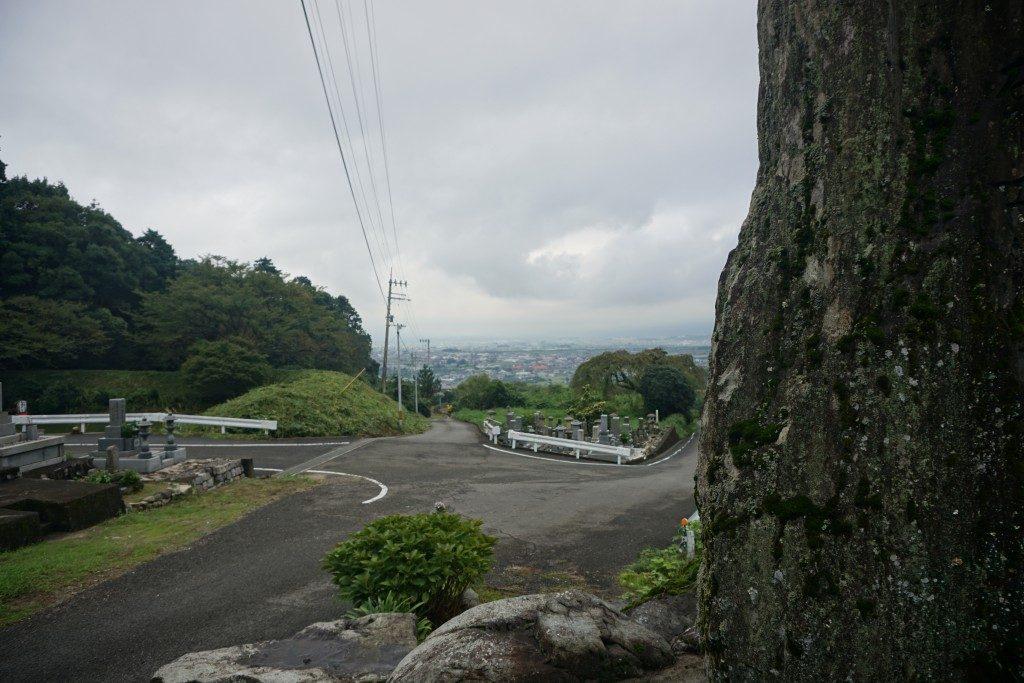 西山興隆寺 石碑からの眺め
