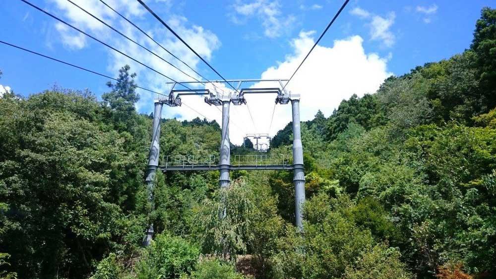 箸蔵山ロープウェイ 途中の景色