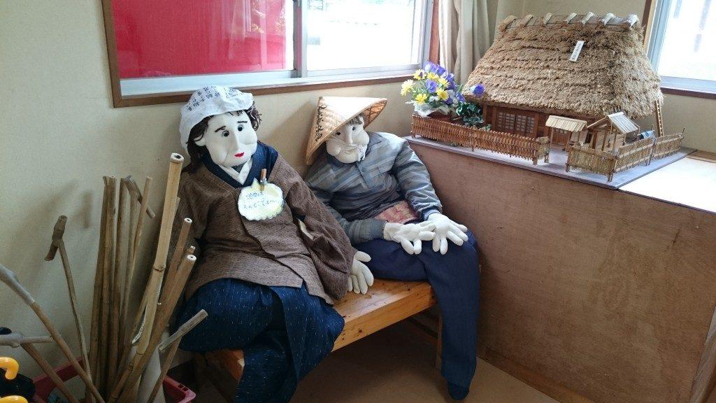 箸蔵山ロープウェイ 山上駅かかし