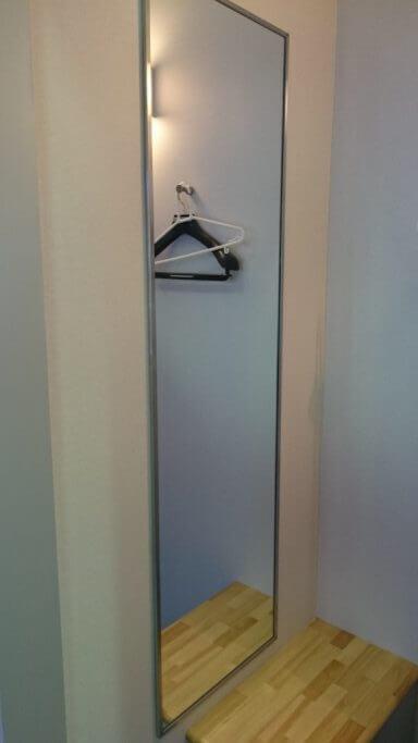 高松空港 お遍路さん更衣室 姿見