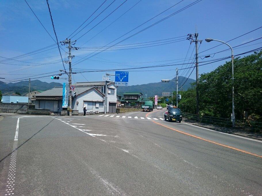 旧撫養街道と撫養街道の合流地点