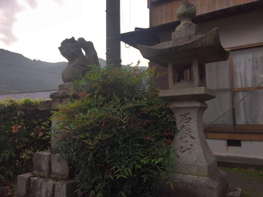 妙雲寺入口 狛犬