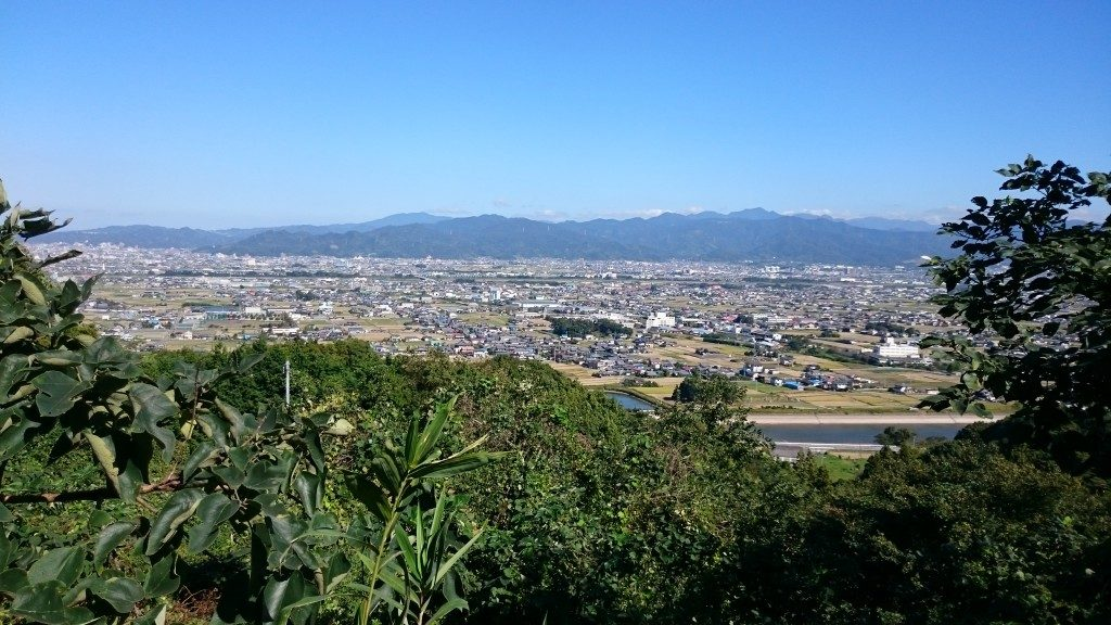 文殊院境外霊場「八窪」への道 眺望