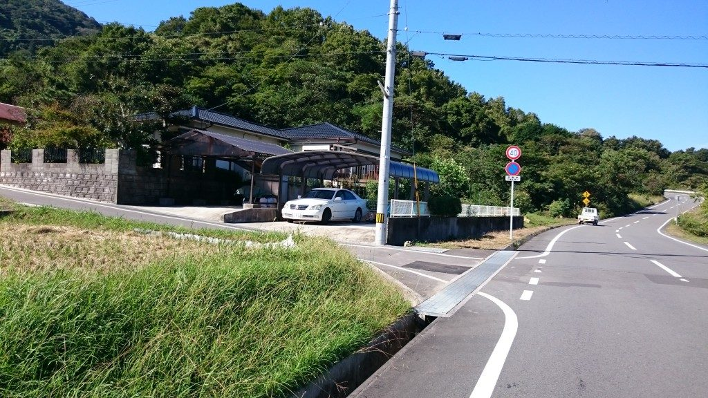 文殊院境外霊場「八窪」への道  交差点