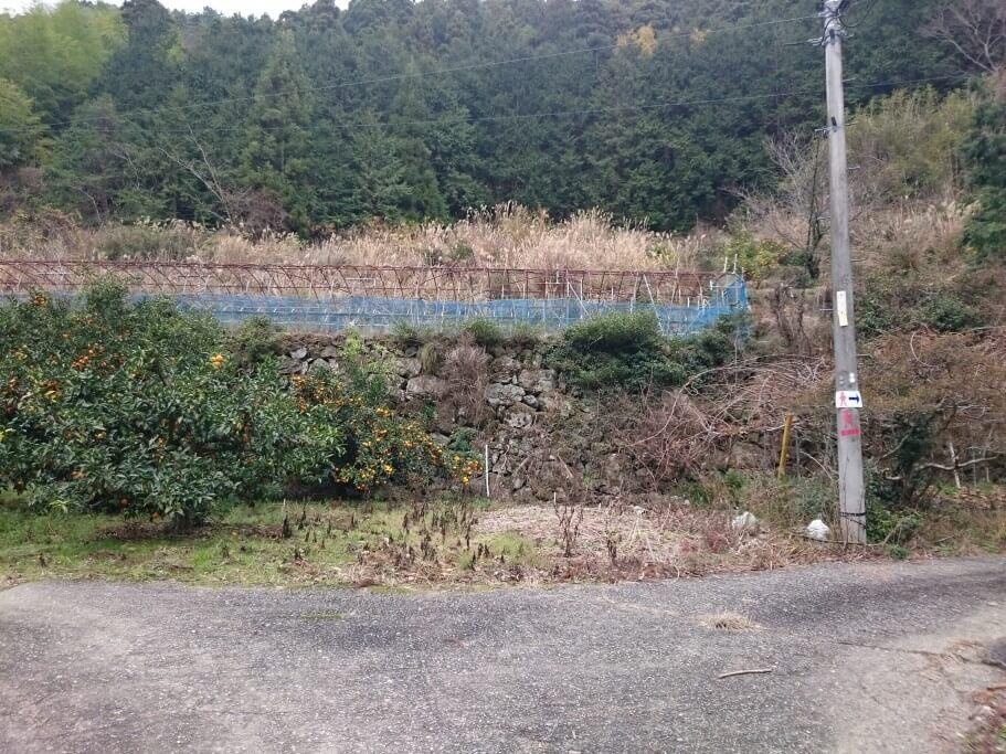 慈眼寺までの道 電柱直書き道標