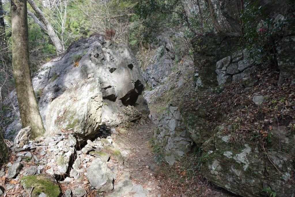 慈眼寺 本堂への道 岩