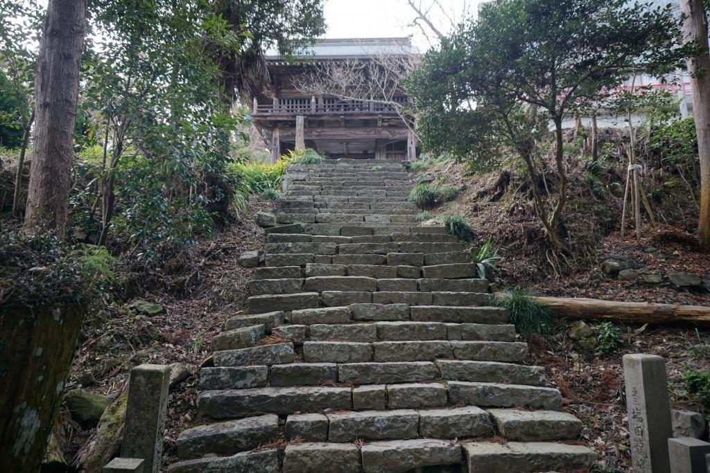 大山寺 石段参道 鐘楼門