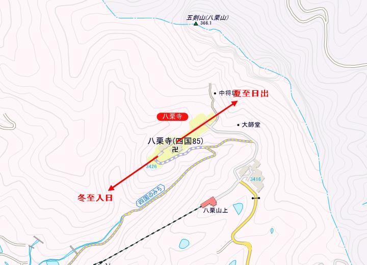 八栗寺のレイライン