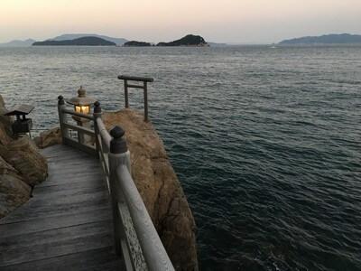 竹居観音から見た海
