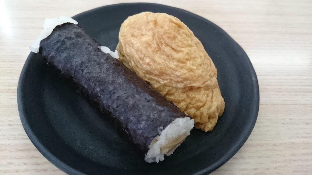 中華そば源平 いなり寿司、かんぴょう巻き