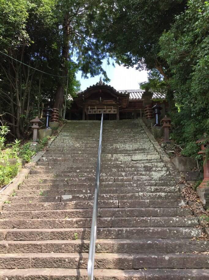 宇志比古神社 階段