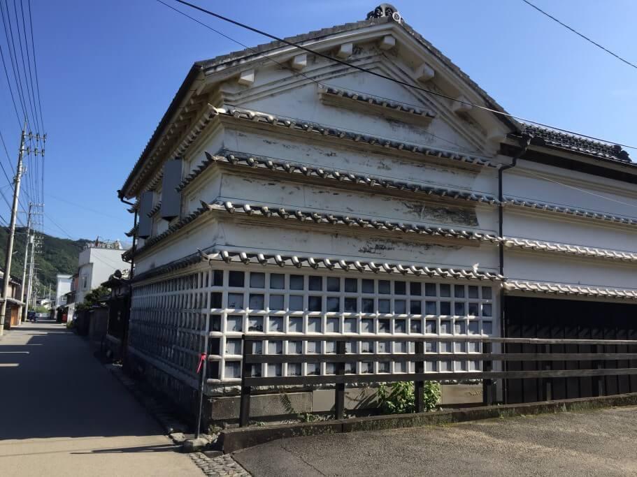 吉良川の町並み 水切り瓦