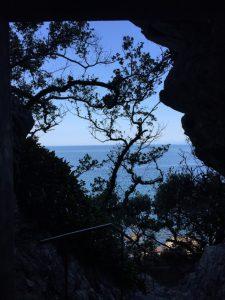 行道不動洞窟からの眺め