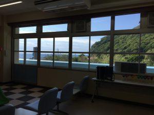 むろと廃校水族館(教室の眺め)