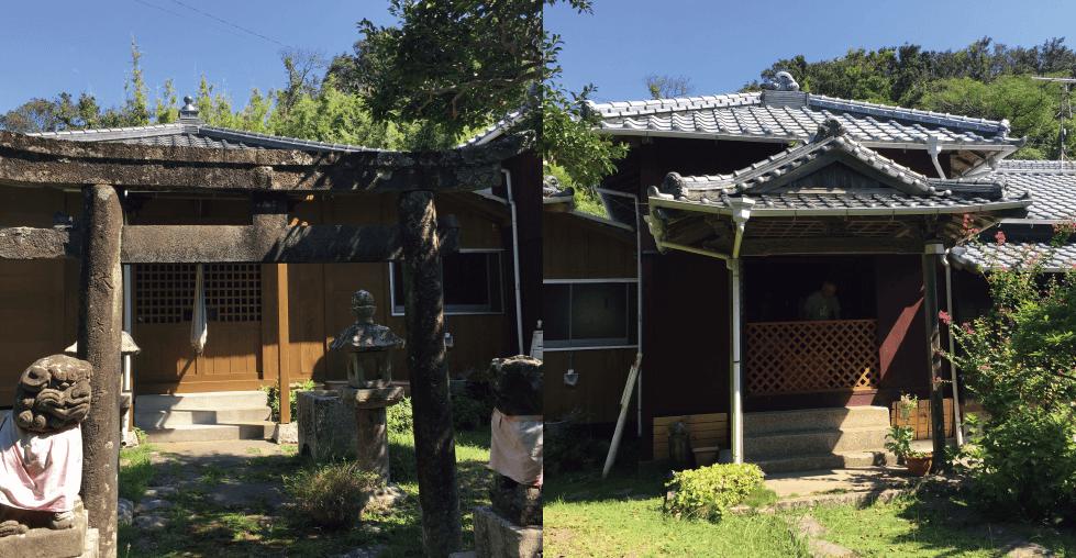 中道寺と神社