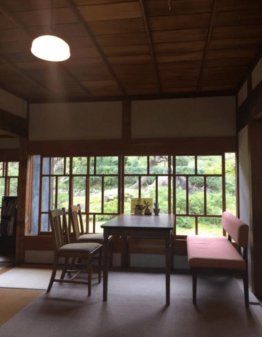 古民家カフェ半平 窓から見える庭