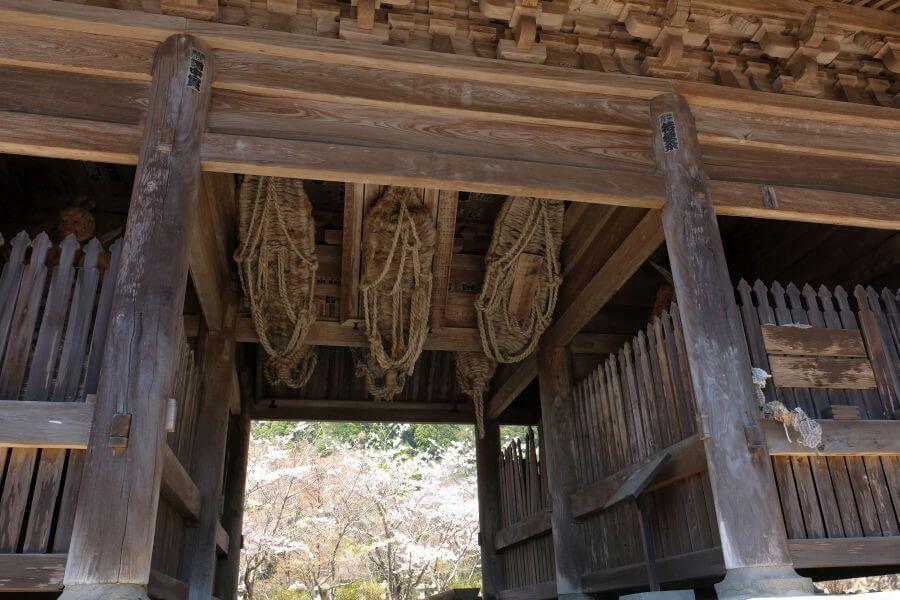 箸蔵寺仁王門 下から覗く