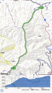 大滝山 阿讃縦走ルートマップ