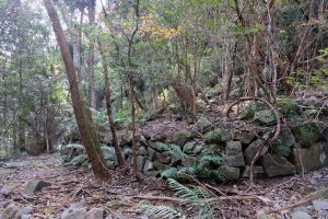 古目峠古道 高知県側 人工建造物