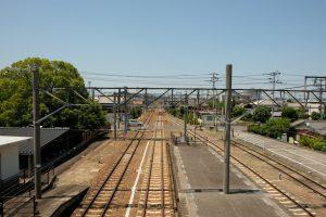善通寺駅 跨線橋 北側の景色