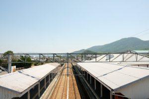 善通寺駅 跨線橋 南側の景色