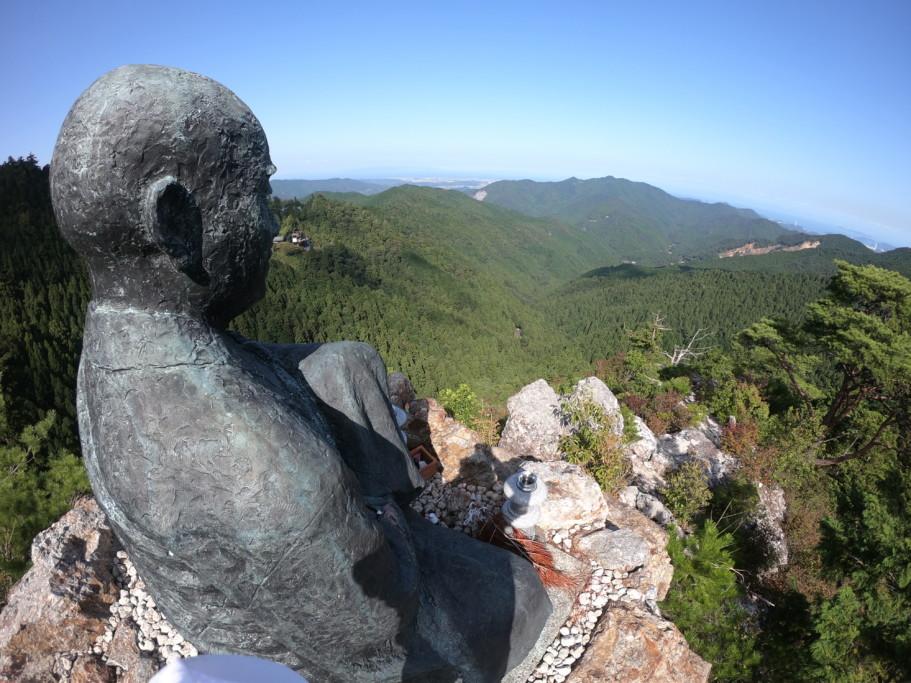 ミニベロ遍路 太龍寺舎心ヶ嶽の大師像と眺望