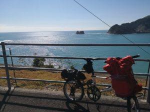 ミニベロ遍路 須崎市から窪川の海