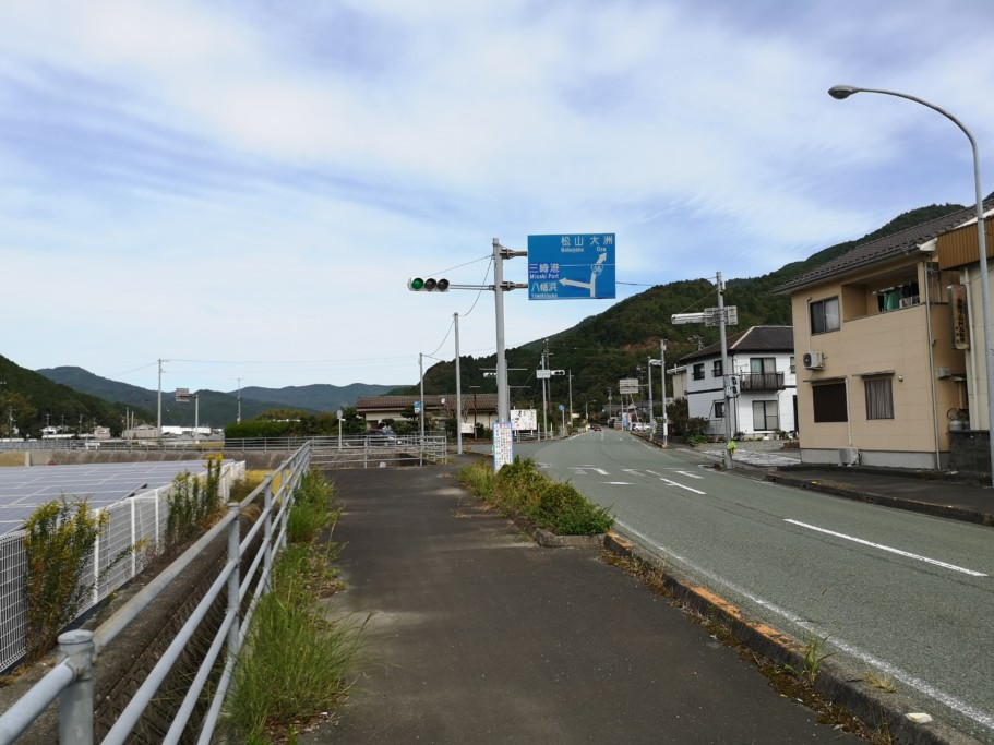 ミニベロ遍路 西予市〜内子町の道路