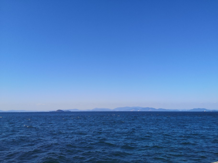ミニベロ遍路 国道196号線から見る瀬戸内海