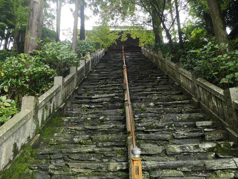 ミニベロ遍路 三角寺階段