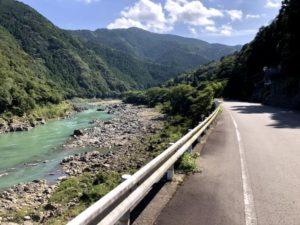 自転車遍路 那賀川沿い