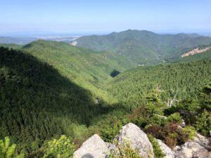ミニベロ遍路 太龍寺舎心ヶ嶽からの眺め
