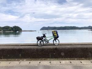 自転車遍路 牟岐町〜室戸岬の海