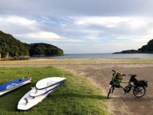 海の駅東洋町 サーフボードと自転車