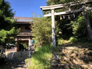 自転車遍路 神峯寺山門と鳥居