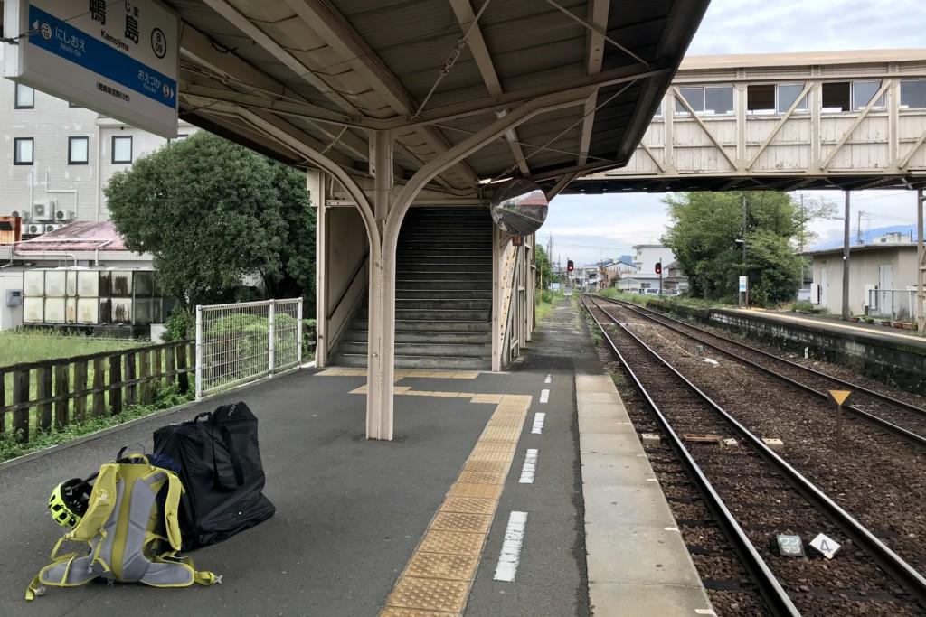 ミニベロ遍路 JR鴨島駅ホーム