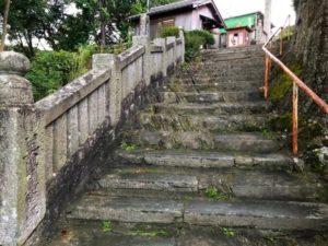ミニベロ遍路 常楽寺階段