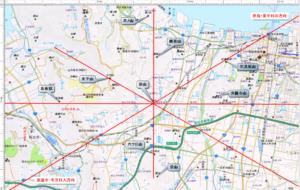 袋山 レイライン位置関係