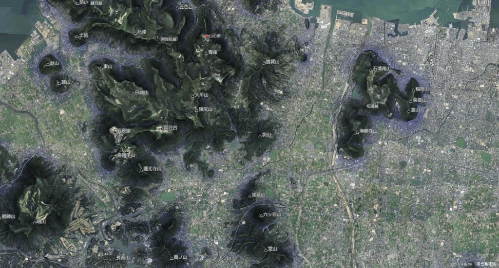 袋山 衛星写真