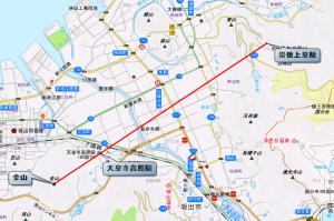 天皇寺と崇徳天皇陵との位置関係 地図