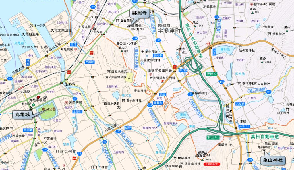 郷照寺レイライン 地図