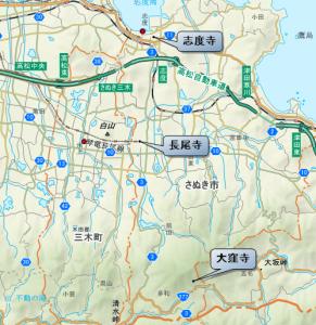 さぬき市 レイライン 地図