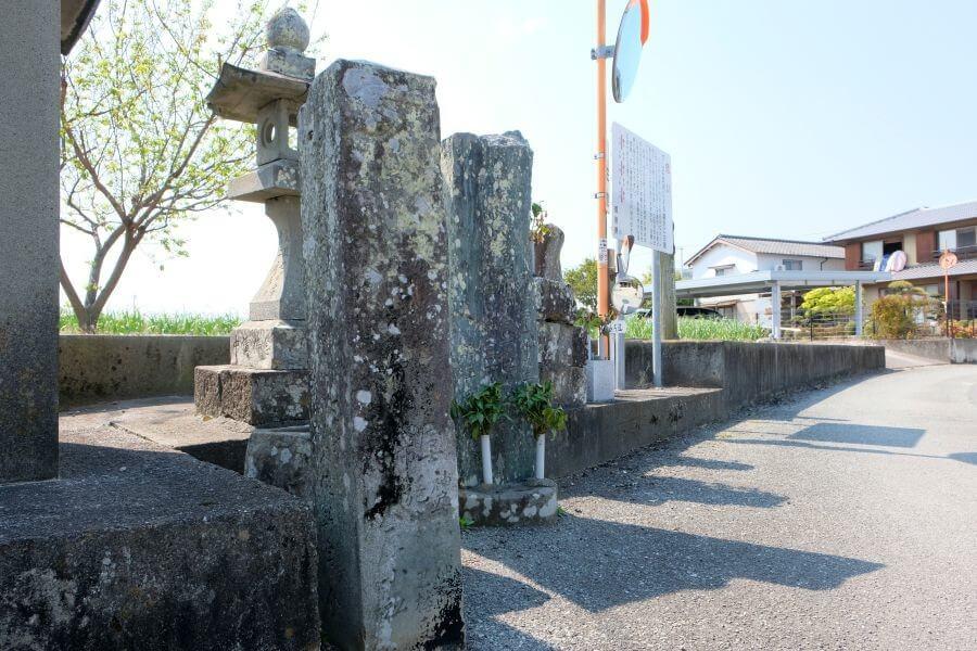 第6番安楽寺近くの別ルート標石 立地