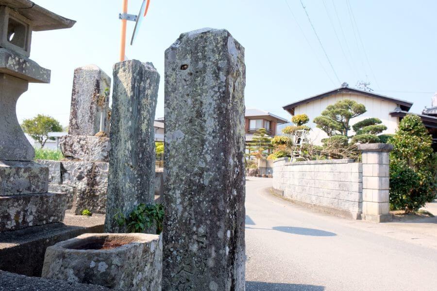 第6番安楽寺近くの別ルート標石 左面